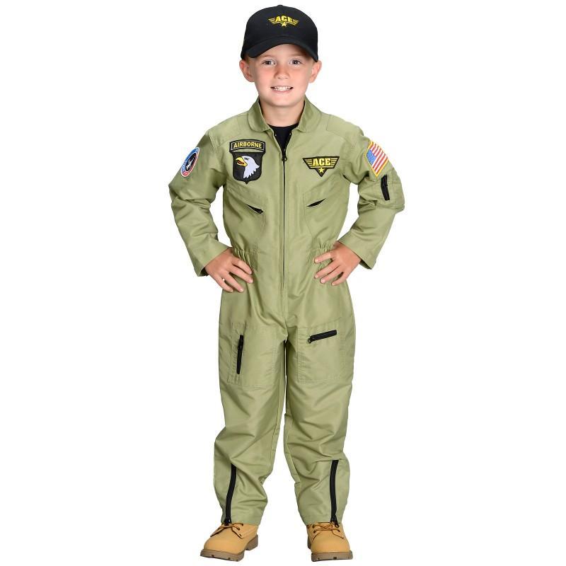 ハロウィン 軍隊 空軍 パイロット 制服 米軍 衣装 コスプレ コスチューム 子供 男の子用 ミリタリー 仮装 グッズ あす楽