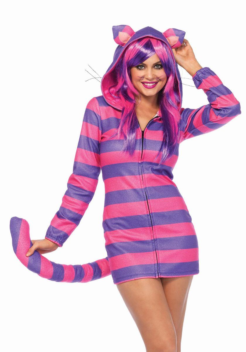ハロウィン チェシャ猫 コスプレ コスチューム パーカー 大人 女性用 着ぐるみ パジャマ レディース 仮装 不思議の国のアリス ディズニー キャラクター あす楽