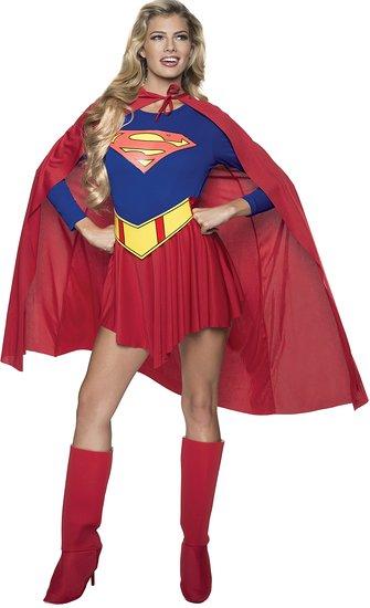 ハロウィン スーパーマン 大人 女性 コスチューム スーパーガール コスプレ スーツ アメコミ 仮装 あす楽