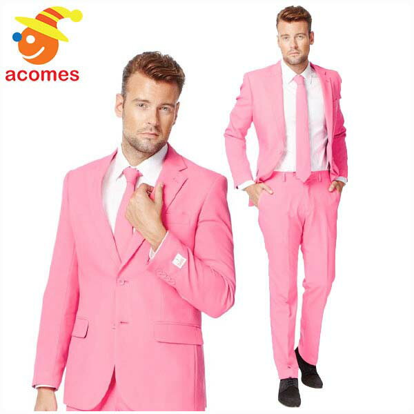 派手 スーツ 衣装 ピンク 大人用 コスチューム オッポスーツ OppoSuits 桃色 パーティー 出し物 芸人 舞台 ジョーク 目立つ 学祭 フ