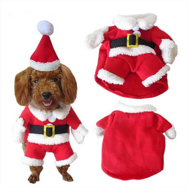 ハロウィン 犬 サンタクロース 衣装 コスプレ マント付き NACOCO ドッグウェア ペット 仮装 クリスマス 年賀状 戌年
