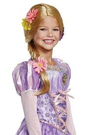 ラプンツェル かつら ウィッグ 子供 女の子 ディズニー コスプレ ハロウィン 仮装 変装 三つ編み 髪の毛 金髪 ブロンド コスチュームアクセサリー