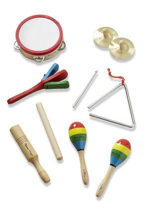 子供楽器セットタンバリンシンバルトライアングルマラカスクラッカートーンブロックMelissa&Dougメリッサ&ダグ