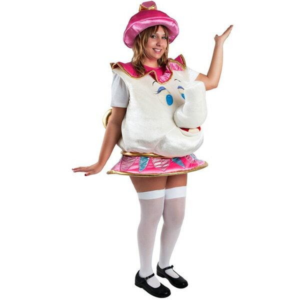 ポット夫人 ミセス・ポット 美女と野獣 コスチューム 衣装 大人用ディズニー キャラクター ミセスポットコスプレ 仮装 ハロウィン