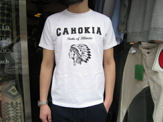 SMART SPICE(修长的调味品)CAHOKIA TEE(CRACK PRINT SERIES)健壮的日本制造人T恤女士T恤男女两用