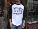 ACOUSTIC(アコースティック)DAYTONA INDIANS Q/S TEE(デイトナ インディアンズ 7分袖Tシャツ)【2色展開(WHITE/NAVY)...