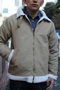 SMARTSPICE(スマートスパイス)COTTONDUCKB3-TYPEJACKET(コットンダック生地B3タイプジャケット)裏側全面に柔らかく暖かいボア冬~早春ジャケット【WASHKHAKI】送料無料