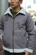 SMARTSPICE(スマートスパイス)COTTONDUCKB3-TYPEJACKET(コットンダック生地B3タイプジャケット)裏側全面に柔らかく暖かいボア冬~早春ジャケット【WASHCHARCOAL】送料無料