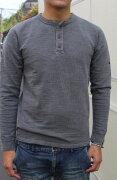 SMARTSPICEスマートスパイスPIGMENTDYEDSLUBHENLEYL/STEE【極厚な10番単糸のスラブ生地/ヘンリーロングTシャツ】丈夫メンズロングTEEレディースTシャツユニセックス大きなサイズあり2018年秋冬新作WELLWORNBLACK送料無料