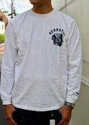 ACOUSTIC(アコースティック)NEWINDIANFACEL/STEE(頑丈なロングTシャツ)【絶対に首の伸びない丈夫なロングTシャツ】【3色展開(OFFWHITE,NAVY,BLACK)】ユニセックス大きなサイズあり【2018秋冬新作頑丈ロングTシャツ】