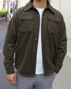 SMARTSPICE(スマートスパイス)CPOJACKET(CPOジャケット)ハンドポケット付き!厚みのある暖かいウール/ポリエステル生地【OLIVE】冬新作送料無料
