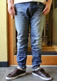 一番人気モデルBLUE WAY(ブルーウェイ)REGULAR TAPERED DENIM PANTS(レギュラーテーパード ストレートデニム)【5504 HARD VINTAGE(薄いUSEDインディゴ)】春夏に良く合う色落ちしたブルー【日本製 送料無料】2020年製作分
