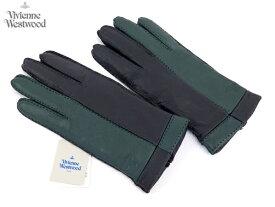 【超特価】ヴィヴィアンウエストウッド Vivienne Westwood MAN 鹿革手袋16,200円以上で送料無料 無料ラッピング指定可 明日楽対応商品 v0737 【 オーブ てぶくろ ギフト ブランド 革 レザー 防寒 メンズ 】