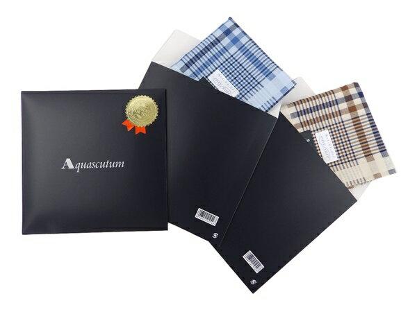 アクアスキュータム Aquascutum専用パッケージ 単品ハンカチ同時購入限定 AQU000