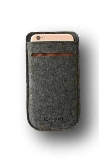 フェルト製 スマホケース スリーブケース スリップイン 薄い 軽い5.5インチ 5インチ iphone8/7/6s/6(クリックポストにてお届け)