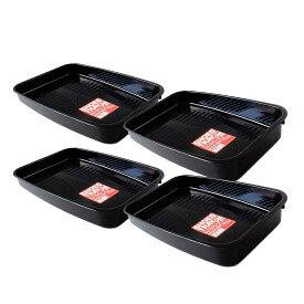 【おまとめ買い】シューズトレー 車用 ブラック 靴置き トレー シューズトレイ(4個入り)