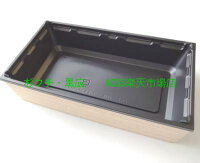 使い捨て弁当容器アクタワン折70×37フチ・B底・透明蓋セット50組パーツ別梱包