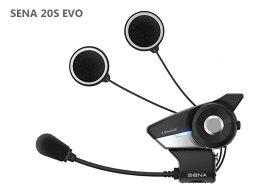 Sena 20S EVO オートバイ用 Bluetooth 4.1 通信システム 先進的インターコム HDオーディオ ヘッドセット シャークフィンアンテナ Single ブラック【日本正規品】