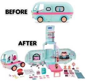 即納【L.O.L. Surprise】希少人気カラーの水色 グランパー ファッション キャンピングカ—】LOL サプライズ! 2-in-1 Glamper Fashion Camper おもちゃ 女の子用 人形 lolサプライズ