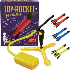 おもちゃロケット ロケットランチャー キッズ用ロケット 子ども用ロケット アウトドア おもちゃ ギフトおもちゃ 屋内+屋外おもちゃ プレゼント ロケットスタンドセット付 ロケット8本入り Rocket Launcher / 知育玩具 おもちゃのロケット