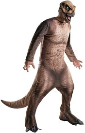 ジュラシックワールド リアル ティラノサウルス Tレックス 恐竜 着ぐるみ コスチューム 大人用 コスプレ ルービーズ ハロウィン 仮装 jurassic world T-rex costume ルビー / rubie ジュラシック