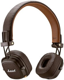 【即納】Marshall マーシャル ワイヤレス オンイヤー ヘッドホン 茶 Major III Bluetooth Wireless On-Ear headphones / Black white brown マーシャル メジャー3 bluetooth ヘッドフォン 黒 白 茶 ブルートゥース major3 / ブラウン Model No. 4092187 無線 メジャーIII