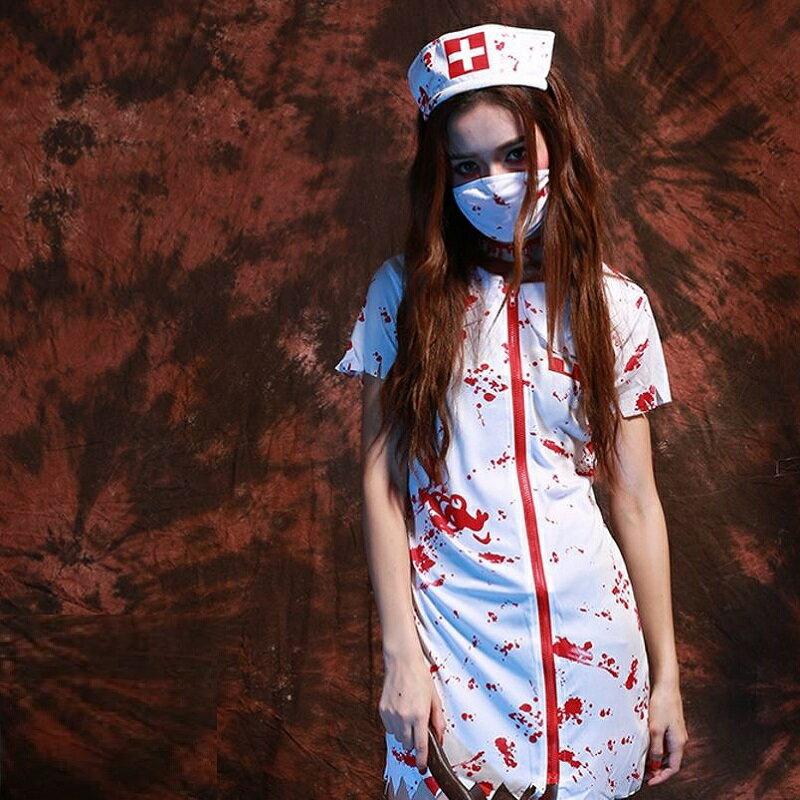 血まみれ ゾンビナースナース服 半袖ワンピース 仮装 ハロウィン イベント コスプレ衣装 ハロウィン衣装 コスチューム 血のり スプラッター ゾンビ ナース 看護師 看護婦 ハロウィンパーティー ハロウィンコスチューム ハローウィン 大人 女性 レディース ホラー 怖い