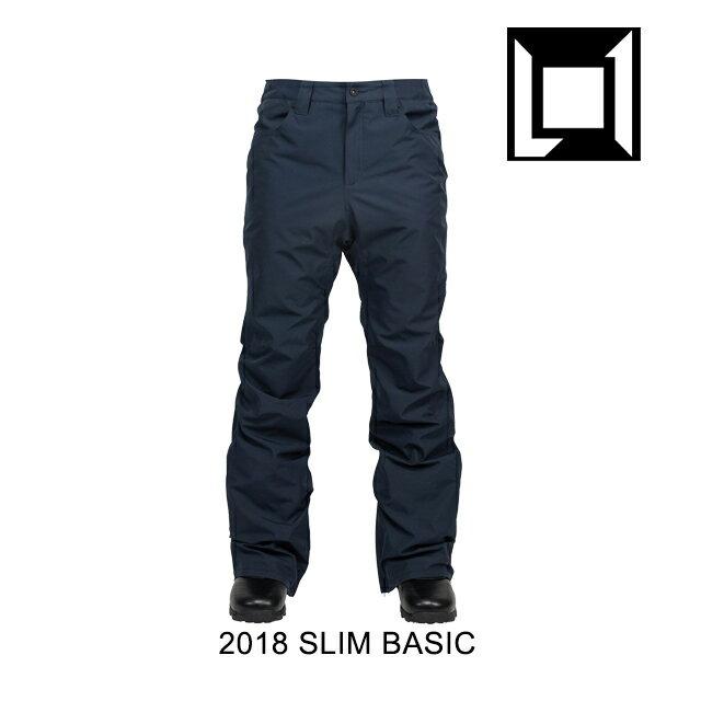 【78時間限定!ポイント最大43倍!1/24 20:00 〜 1/28 1:59迄】 2018 L1 エルワン パンツ SLIM BASIC PANT INK