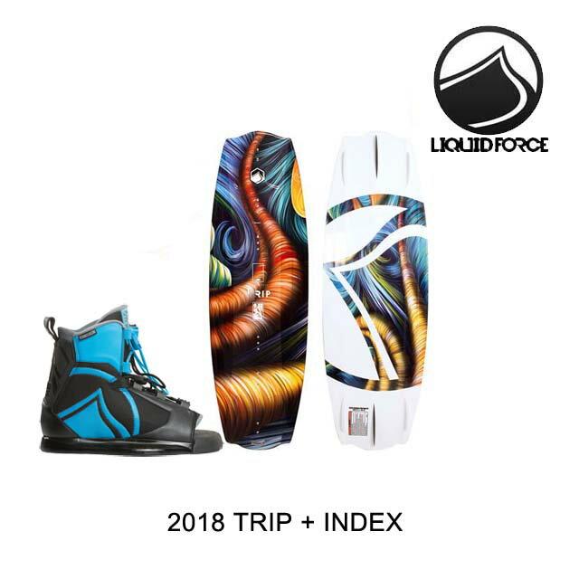 2018 LIQUID FORCE リキッドフォース ウェイクボード WAKEBOARD TRIP 134 + バインディング BINDING INDEX BLUE/BLACK 8-12