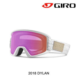 2018 GIRO ジロ ディラン AF レディース ゴーグル WOMEN'S GOGGLE DYLAN AF WHITE QUILTED/AMBER PINK+YELLOW アジアン フィット
