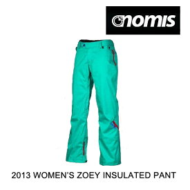 2013 NOMIS ノーミス パンツ WOMEN'S ZOEY INSULATED PANT SPEAR SPEARMINT