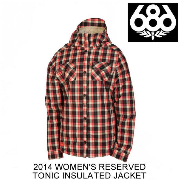 2014 686 シックスエイトシックス ジャケット WOMEN'S RESERVED TONIC INSULATED JACKET WATERMELON PLAID FLANNEL
