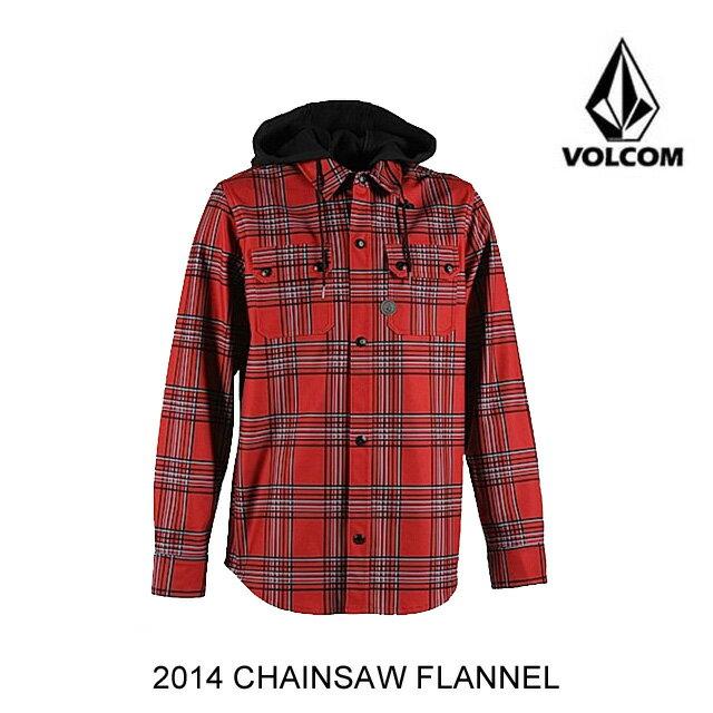 2014 VOLCOM ボルコム ジャケット CHAINSAW FLANNEL BLR