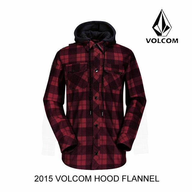 2015 VOLCOM ボルコム ジャケット HOOD FLANNEL RED
