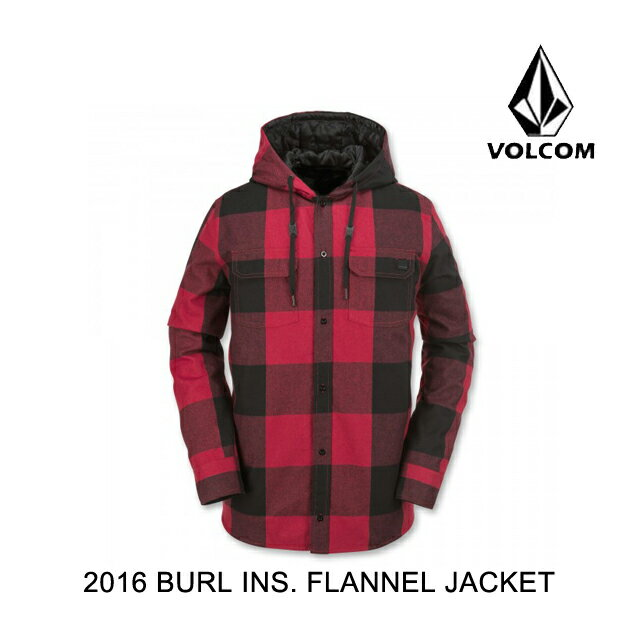 2016 VOLCOM ボルコム ジャケット BURL INSULATED FLANNEL JACKET RED