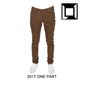2017 L1 エルワン パンツ WOMEN'S ONE PANT BROWN OVERDYE DENIM
