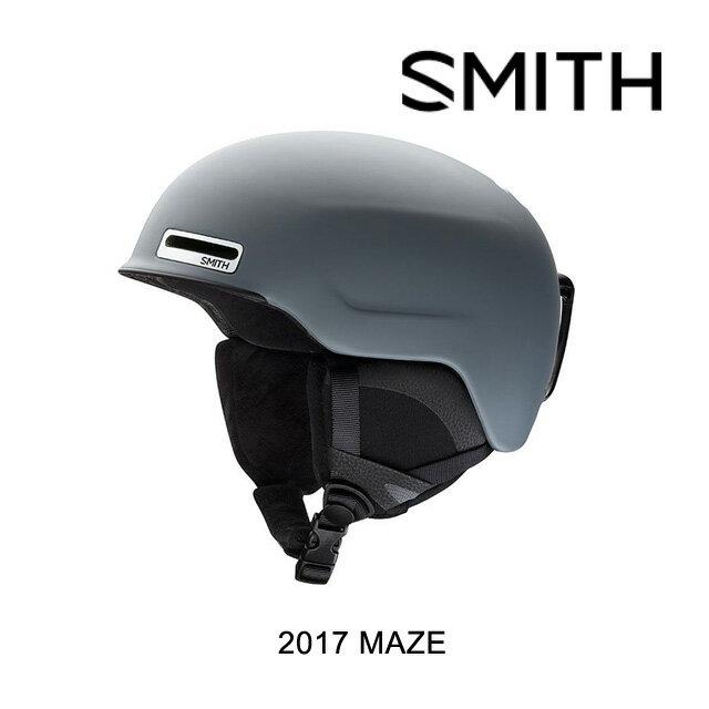 【嬉しい7日間!ポイント最大38倍!1/18 10:00〜1/25 9:59迄】2017 SMITH スミス ヘルメット HELMET MAZE MATTE CHARCOAL