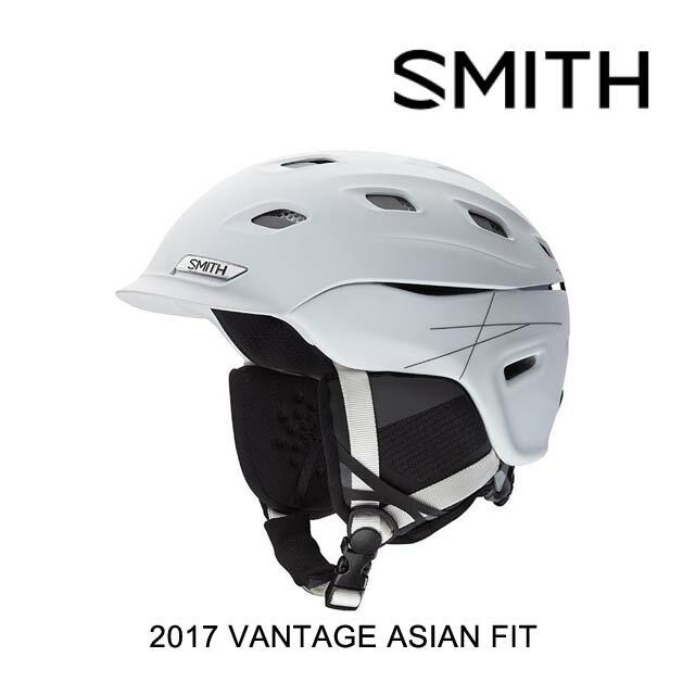 【嬉しい7日間!ポイント最大38倍!1/18 10:00〜1/25 9:59迄】2017 SMITH スミス ヘルメット HELMET VANTAGE MATTE WHITE ASIAN FIT