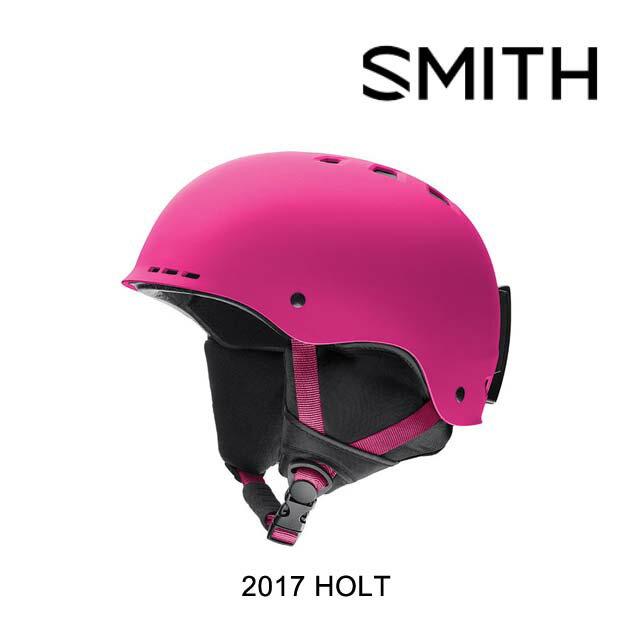 【嬉しい7日間!ポイント最大38倍!1/18 10:00〜1/25 9:59迄】2017 SMITH スミス ヘルメット HELMET HOLT MATTE FUCHSIA