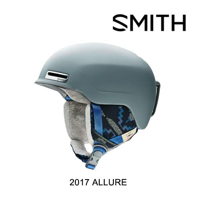 【嬉しい7日間!ポイント最大38倍!1/18 10:00〜1/25 9:59迄】2017 SMITH スミス ヘルメット WOMEN'S HELMET ALLURE MIPS MATTE FROST WOOLRICH MIPS