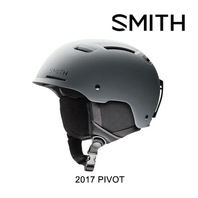 【嬉しい7日間!ポイント最大38倍!1/18 10:00〜1/25 9:59迄】2017 SMITH スミス ヘルメット HELMET PIVOT MATTE CHARCOAL