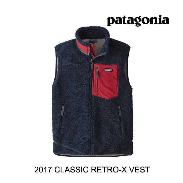 【7日間限定!ポイント最大38倍!12/9〜12/16迄】 2017 PATAGONIA パタゴニア ベスト CLASSIC RETRO-X VEST NVCR NAVY BLUE W/CLASSIC RED