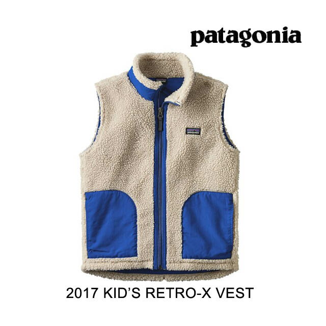 2017 PATAGONIA パタゴニア ベスト KIDS' RETRO-X VEST NVK NATURAL W/VIKING BLUE
