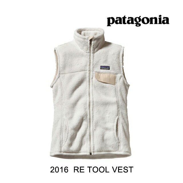 2016 PATAGONIA パタゴニア ベスト WOMEN'S RE-TOOL VEST RWX RAW LINEN WHITE X-DYE