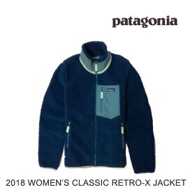 2018 PATAGONIA パタゴニア ジャケット WOMEN'S CLASSIC RETRO-X JACKET SNBL STONE BLUE 23074