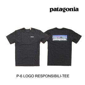 PATAGONIA パタゴニア P-6 ロゴ レスポンシビリティー メンズ Tシャツ P-6 LOGO RESPONSIBILI-TEE BLK BLACK 38504