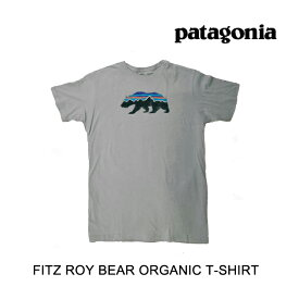 PATAGONIA パタゴニア フィッツロイ ベアー オーガニック メンズ Tシャツ FITZ ROY BEAR ORGANIC T-SHIRT FEA FEATHER GREY 39143