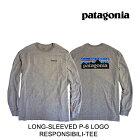 2019PATAGONIAパタゴニアTシャツLONG-SLEEVEDP-6LOGORESPONSIBILI-TEEGLHGRAVELHEATHER
