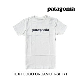 PATAGONIA パタゴニア Tシャツ TEXT LOGO ORGANIC T-SHIRT WHI WHITE