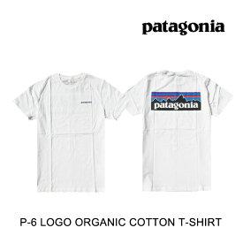 PATAGONIA パタゴニア Tシャツ P-6 LOGO ORGANIC T-SHIRT WHI WHITE
